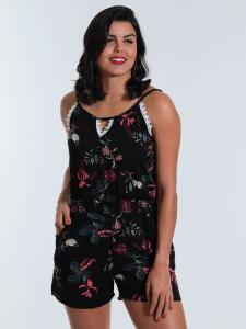 Macaquinho Floral Lily Fashion LX6-017