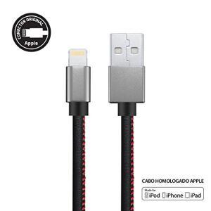 Cabo iPhone, iPad, iPod Lightning Premium, Geonav, Ligh13, Preto, 1, 5Mt   R$57