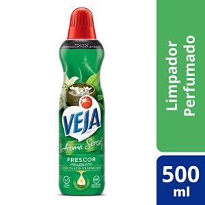 Leve 5 unidades de Limpador Aroma Sense Frescor, Veja, 500 ml por R$ 12