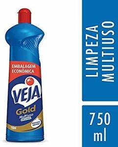 Limpador Gold Multiuso 750 ml, Veja   R$4
