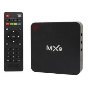 Smart TV Box JLY Android 7.1 MX9 4K Preto | R$95