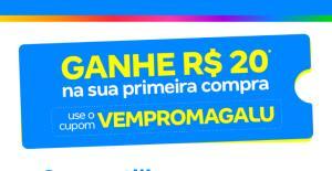 R$20,00 OFF na Primeira Compra no Magazine Luiza APP
