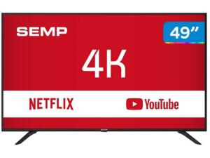 "Smart TV 4K LED 49"" Semp SK6000 Wi-Fi - Conversor Digital 3 HDMI USB por R$ 1662"