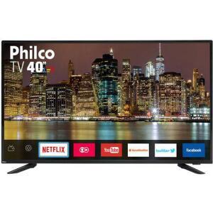 "Smart TV LED 40"" Philco PTV40E60SN Full HD Conversor Digital Wi-Fi 2 USB 2 HDMI Netflix   R$1.040"