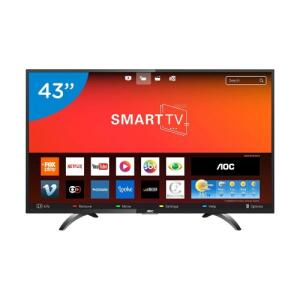 "Smart TV LED 43"" AOC LE43S5970S Full HD Wi-Fi 2 USB 3 HDMI | R$1.111"