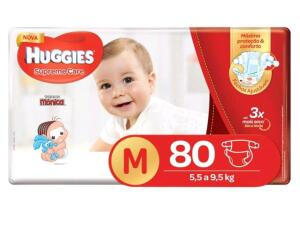 Fraldas Huggies Supreme Care Tam M - 80 Unidades - R$46