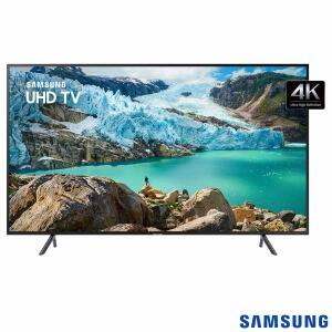 "Smart TV 4K Samsung LED 58"" com Visual Livre de Cabos, HDR Premium, Controle Remoto Único e Wi-Fi - UN58RU7100GXZD R$2.749"