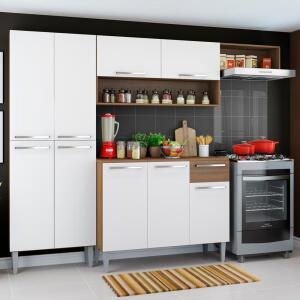 Cozinha Completa Compacta Madesa Emilly com Armário e Balcão por R$ 450