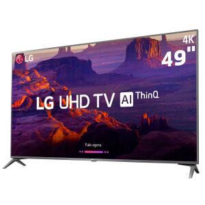 "Smart TV LED 49"" Ultra HD 4K LG 49UK6310PSE com IPS por R$ 1994"