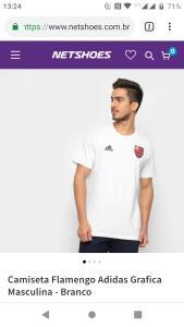 Camiseta Flamengo Adidas Grafica Masculina - Branco