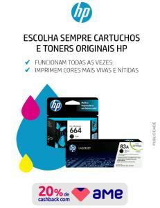 Cartuchos e Toners HP com 20% de AME