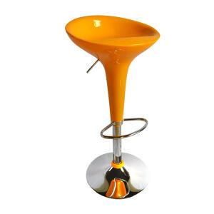 Banqueta Alta Giratória com Encosto em Plástico Amarela Carrefour Home HO300941 - R$128