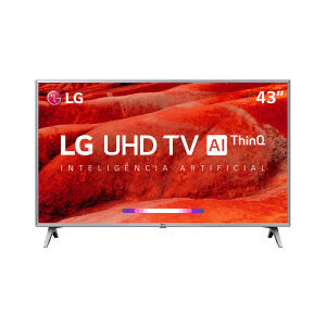 "Smart TV LED 43"" LG UM7500 Ultra HD 4K HDR Ativo, DTS Virtual X, Inteligência Artificial, ThinQ AI, WebOS 4.5 - R$1899"