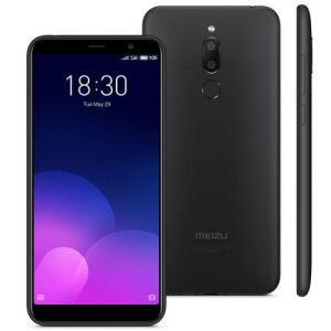 "Smartphone Meizu M6t Preto, Tela 5,7"", 3gb Ram, 32gb, Câmara 13mp/8mp, Dual Sim | R$549"