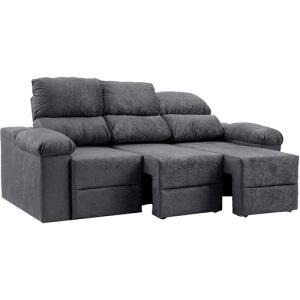 Sofá 3 Lugares Reclinável e Assento Retrátil Ripley Plus Ultrasuede por R$ 699