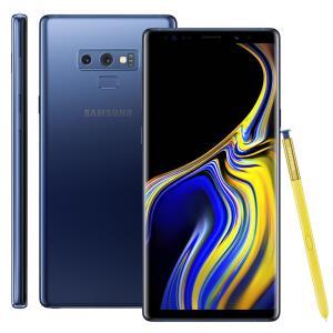 "Smartphone Samsung Galaxy Note 9 Azul 128GB, Tela 6.4"", 6GB RAM, Android 8.1, Dual Chip"