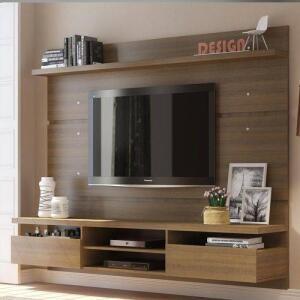 Painel para TV Sala Madesa 220cm 2 portas Moscou por R$ 400