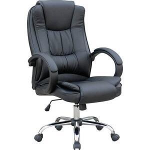[APP+CARTÃO SUB] Cadeira Presidente MB-C730 Giratória Base Cromada Preto - Travel Max | R$298