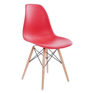 Cadeira Eames Base Eiffel em Aço Vermelha - R$89