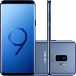 "Smartphone Samsung Galaxy S9+ Dual Chip Android 8.0 Tela 6.2"" Octa-Core 2.8GHz 128GB 4G Câmera 12MP Dual Cam - Azul"