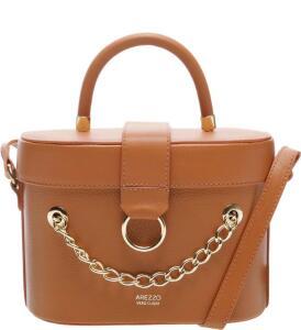 Bolsa Tiracolo Couro Karinne Pequena Apricot Tan R$330