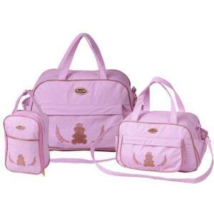 Kit Bolsa Maternidade Rosa + Trocador Rosa R$140