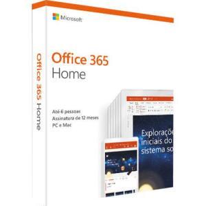 Microsoft Office 365 Home 2019: 6 Licenças - R$139