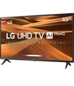 "(1899 com AME) Smart TV Led 49"" LG 49UM7300PSA UHD Thinq AI Conversor Digital Integrado 3 HDMI 2 USB Wi-Fi"