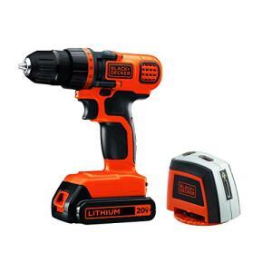 Parafusadeira/furadeira 20v Com Nivel A Laser Ld120l Black+decker R$290
