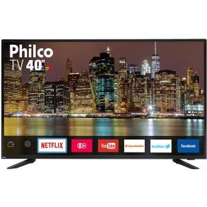 "SMART TV LED 40"" Philco PTV40E60SN Full HD Conversor Digital Wi-Fi 2 USB 2 HDMI Netflix - R$979"