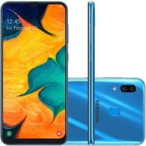 Smartphone Samsung Galaxy A30, 64GB, 16MP, Tela 6.4´, Azul - R$976