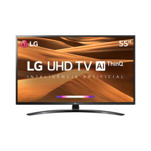 "Smart TV LED 55"" LG UM7470 Ultra HD 4K HDR Ativo, DTS Virtual X, Inteligência Artificial, ThinQ AI, WebOS 4.5 - R$2399"