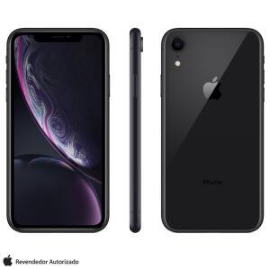 """iPhone XR Preto com Tela de 6,1"""", 4G, 128 GB e Câmera de 12 MP - MRY92BR/A - R$3999"""
