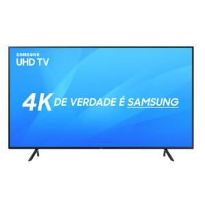 "Smart TV LED 40"" Samsung Ultra HD 4K 40NU7100 3 HDMI 2 USB HDR - R$1.367"
