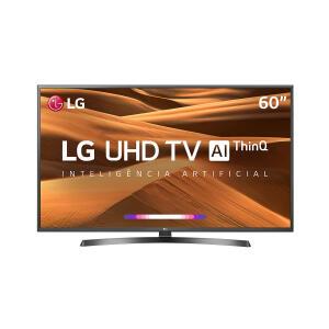 """Smart TV LED 60"""" LG 60UM7270PSA Ultra HD/4K Wi-Fi 3 HDM 2 USB Preta - R$2899"""