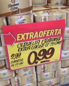 [Extra Iguatemi e Aguanambi.] Cerveja Brahma 350ML Lata | R$1