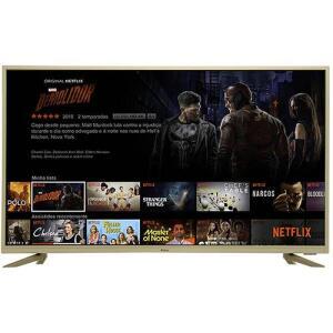 "Smart TV LED 43"" Philco PTV43F61DSWNTC Ultra HD 4K com Conversor Digital 3 HDMI 2 USB Wi-Fi 60Hz - Champagne   R$1.400"