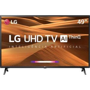 "Smart TV Led 49"" LG 49UM7300PSA UHD Thinq AI Conversor Digital Integrado 3 HDMI 2 USB Wi-Fi - R$1848"