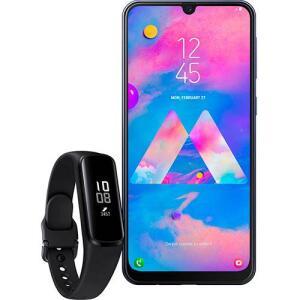[APP] - Smartphone Samsung Galaxy M30 - Azul + Galaxy Fit E - Preto   R$1299
