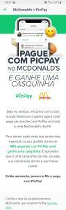 [Usuários Selecionados-ES] Pague com picpay e ganhe uma casquinha no McDonald's