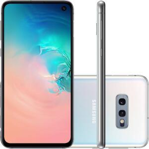 "Smartphone Samsung Galaxy S10e 128GB Dual Chip Android 9.0 Tela 5,8"" Octa-Core 4G Câmera 12MP + 16MP - Branco - R$2349"