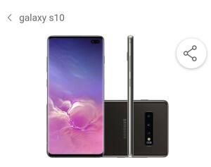 """Smartphone Samsung Galaxy S10+ 512GB Dual Chip Android 9.0 Tela 6,4"""" Octa-Core 4G Câmera Tripla Traseira 12MP + 12MP + 16MP - Ceramic Preto"""