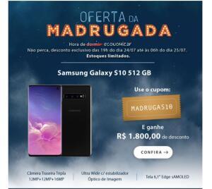 Samsung Galaxy S10 com 512GB  - SM-G973FZKKZTO (à vista)