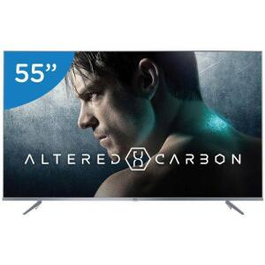"Smart TV LED 55"" TCL P6US Ultra HD 4K HDR com Wi-Fi integrado 3 HDMI 2 USB - R$2640"