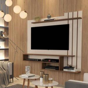 Painel para TV até 55 Polegadas Valência Off White com Freijó - RPM Móveis