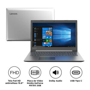 "Notebook Lenovo Intel Core i7 8GB 1TB Placa de Vídeo 2GB Tela 15.6"" Windows 10 Ideapad 330 15IKB 81FE0000BR"