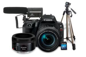 Combo EOS Youtuber SL2 com Lente EF 50mm | R$3.379