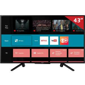 "Smart TV LED 43"" Sony KDL-43W665F Full HD com Conversor Digital 2 HDMI 2 USB 60Hz - Preta | R$1.292"