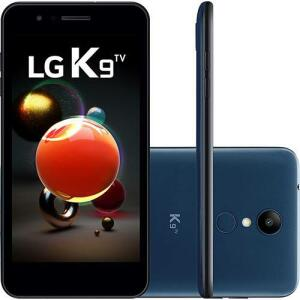 """Smartphone LG K9 TV Dual Chip Android 7.0 Tela 5"""" Quad Core 1.3 Ghz 16GB 4G Câmera 8MP - Azul"""