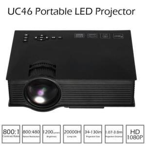Mini Projetor Led Profissional 1200 Lumen Wifi Miracast Uc46 | R$286